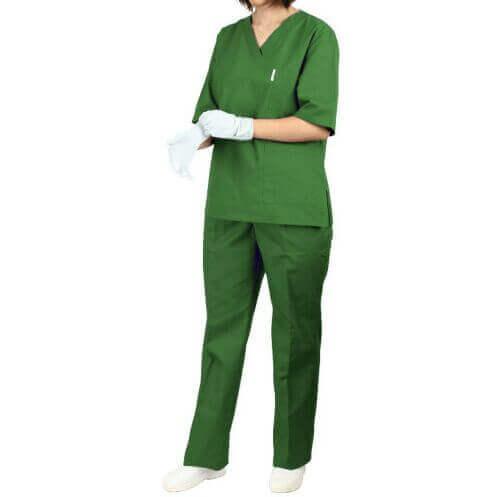 uniforma medicala verde