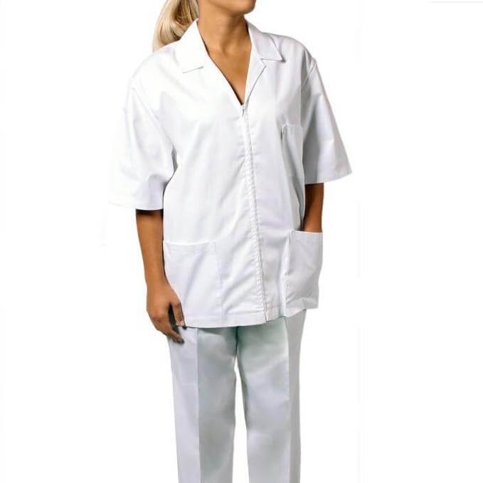 halate medicale cu fermoar de dama