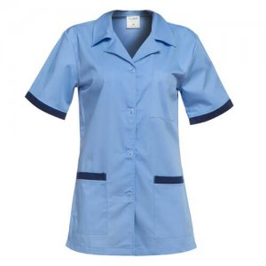 halat de lucru dama albastru bleumarin