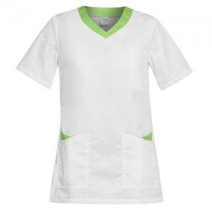 bluza medicala dama alb verde