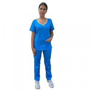 uniforma medicala dama albastra