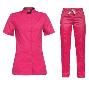 costum medical dama roz
