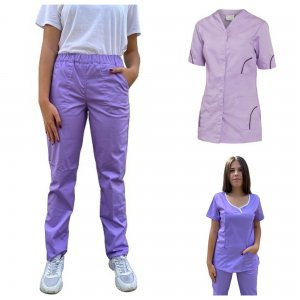 uniforma medicala lila din 3 piese