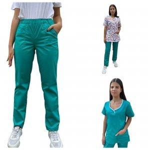 costum medical dama 3 piese: 2 bluze si 1 pantalon medical