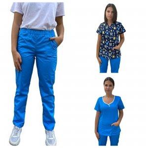 uniforma medicala asistente albastra