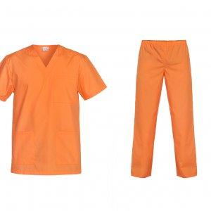 costum medical universal portocaliu