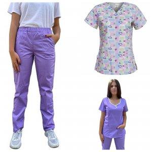 costum medic sau asistente lila